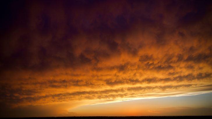 cloudy sky dawn time 5k Mac Wallpaper