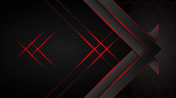 futuristic dark hexagon 10k Mac Wallpaper