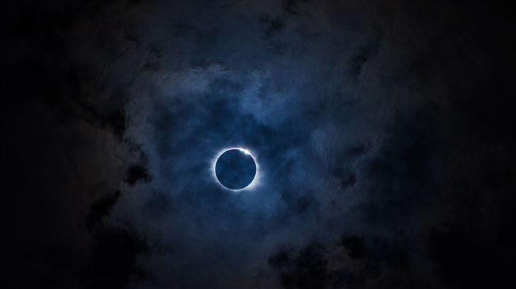 solar eclipse 5k Mac Wallpaper