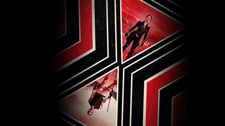 black widow movie poster dark 5k Mac Wallpaper