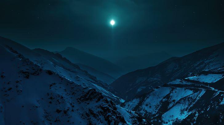 blue moon morning 5k Mac Wallpaper