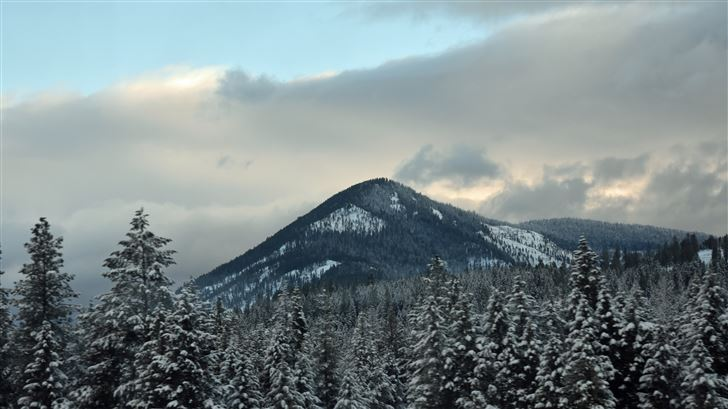 winter mountains 5k Mac Wallpaper