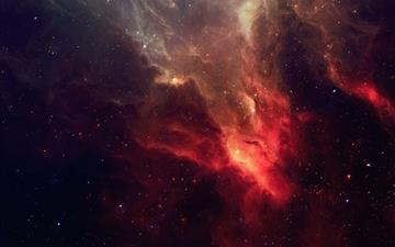 Smoky Fire Galaxy Mac wallpaper