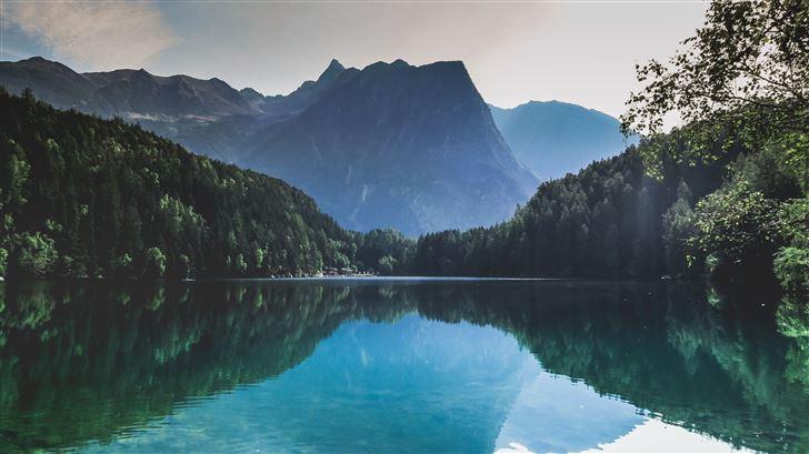 reflection of trees in lake piburger see Mac Wallpaper