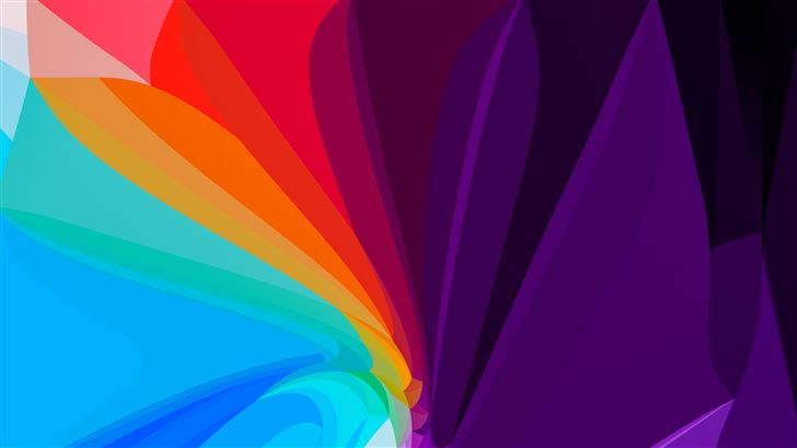 flower leaf colorful abstract 8k Mac Wallpaper