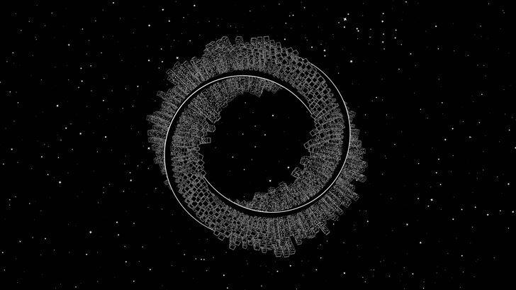 mobius city dark 5k Mac Wallpaper