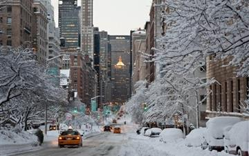 NY Winter Snow USA Mac wallpaper