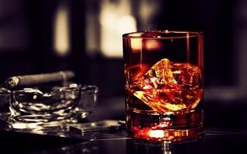 Whisky Ice Cigar Mac wallpaper