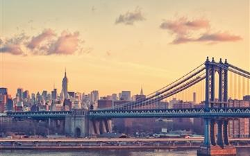 Manhattan Bridge at Dusk New York United States All Mac wallpaper