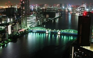 Tokyo Panoramic City Night Mac wallpaper
