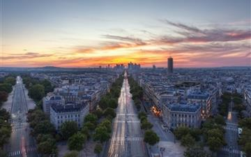 Sunset Paris France All Mac wallpaper