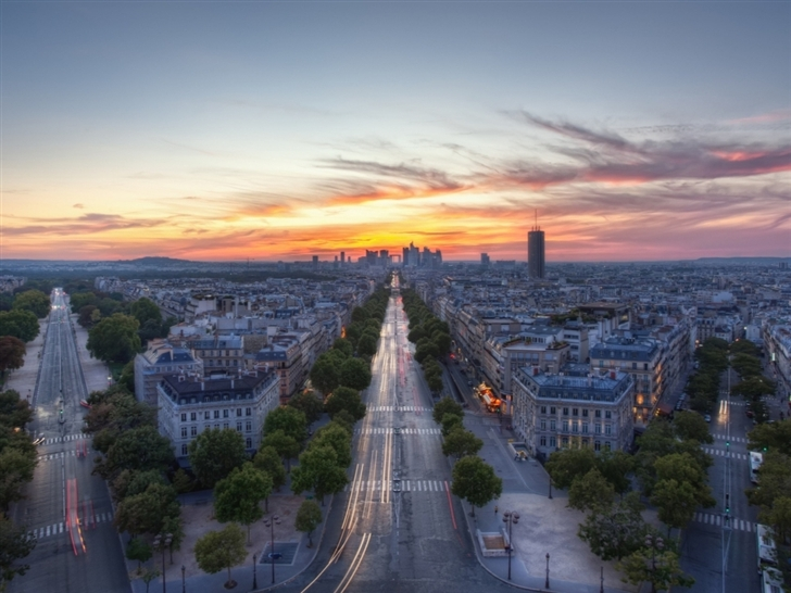 Sunset Paris France Mac Wallpaper