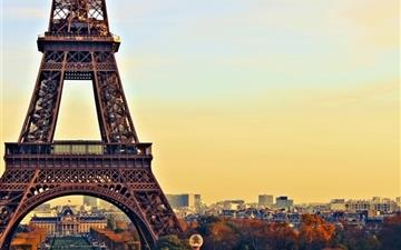 Eiffel Tower Paris City Night Mac wallpaper