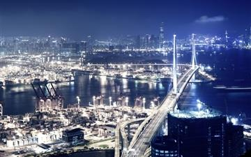 Hong kong at night Mac wallpaper