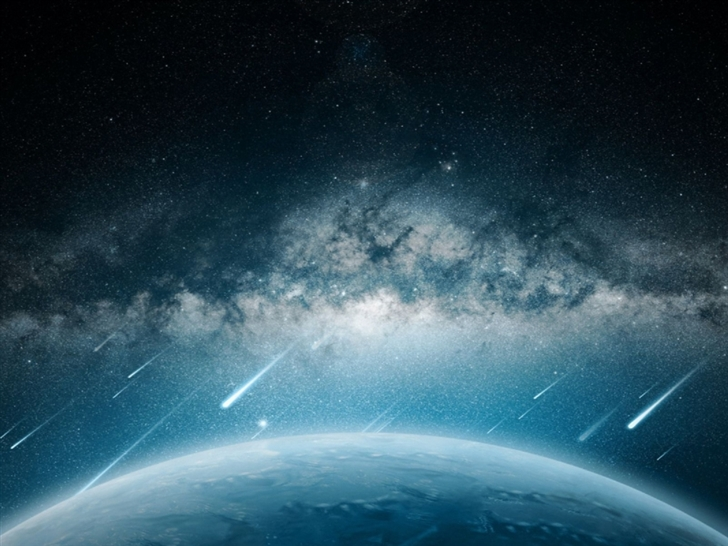 Space Meteorite Planet Rain Mac Wallpaper