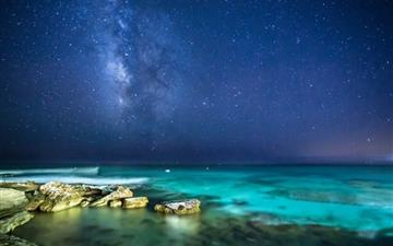 Ocean night sky Mac wallpaper