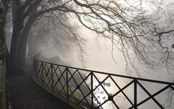 Foggy River All Mac wallpaper