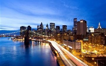 Manhattan by night Mac wallpaper