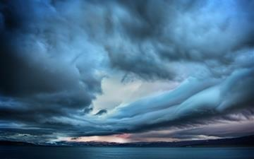 Storm over paradise MacBook Air wallpaper