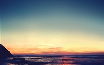 Tranquil sunset Mac wallpaper