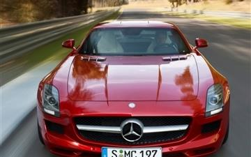 Mercedes Benz  Red 2010 Mac wallpaper