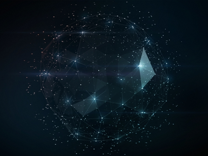 Shiny Triangles Cage Abstract Mac Wallpaper