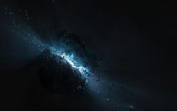 Asteroid Fantasy Mac wallpaper