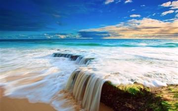 Sea Wave Waterfall Mac wallpaper