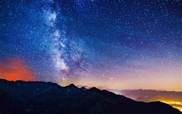 Milky Way Mountains MacBook Pro wallpaper