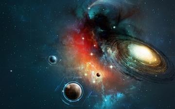 Space Horizon Mac wallpaper