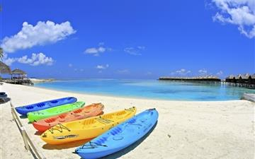 Maldives Beach Corner All Mac wallpaper