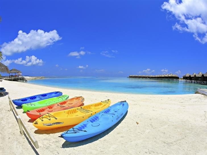 Maldives Beach Corner Mac Wallpaper