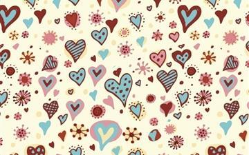 Valentines Day Hearts Textures Mac wallpaper