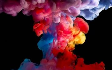 Colorful smoke All Mac wallpaper