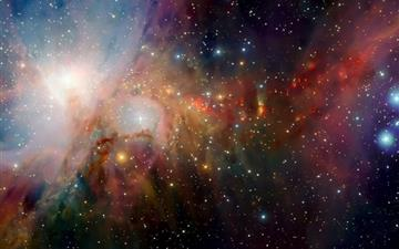Colorful Nebula MacBook Air wallpaper
