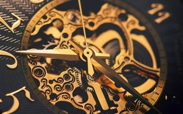 Watches Machinery Gear Gold MacBook Air wallpaper