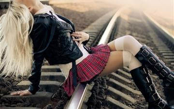 Punk School Girl All Mac wallpaper
