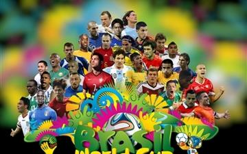 Brazil 2014 World Cup Football Stars MacBook Air wallpaper