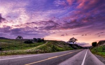 Sunset Road Landscape Mac wallpaper