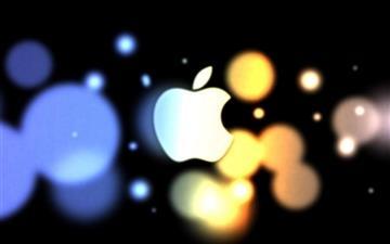 Apple Blue Orange Circle Mac wallpaper