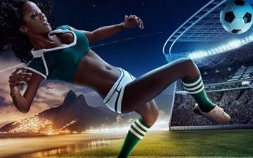 2014 Brazil World Cup Calendar Beauties Mac wallpaper