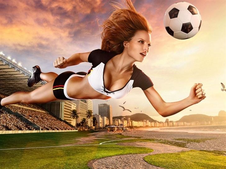 Brazil World Cup 2014 Football Baby Mac Wallpaper