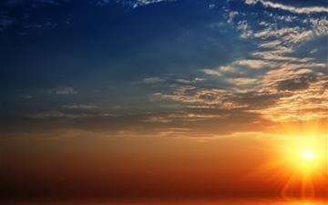 Breathtaking sunset Mac wallpaper