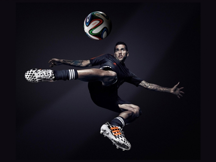 Dani Alves Brazil Adidas 2014 Fifa World Cup Mac Wallpaper