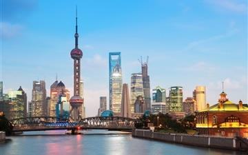 Shanghai Cityscape Mac wallpaper