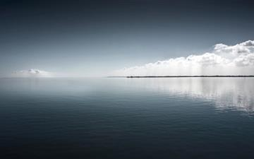 Clouds lake sea Mac wallpaper