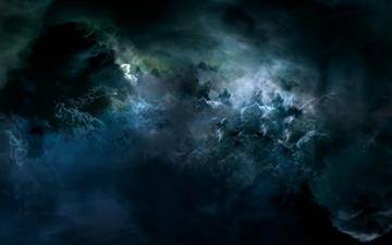 Darkness outer space Mac wallpaper