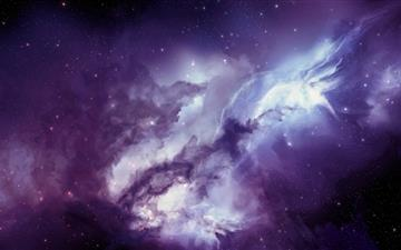 Angel galaxy Mac wallpaper