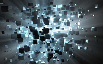 Floating Cubes Mac wallpaper