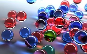 Glass Spheres Mac wallpaper